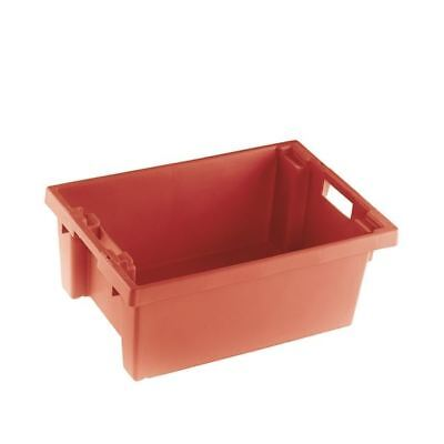 VFM Red Solid Slide Stack/Nesting Container 32 Litre 382958 [SBY24785]