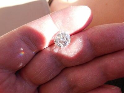 Fiery 3.65 ct White H - I Color Round Loose Moissanite VVS1 9.98 mm