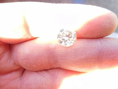 Fiery 3.51 ct Ice White H - I Color Round Loose Moissanite VVS1 9.86 mm