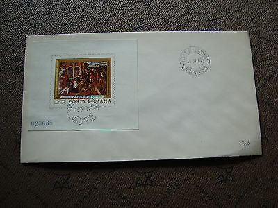 ROMANIA envelope 28/7/69 - Stamp Yvert and Tellier bloc n°75 (cy2)