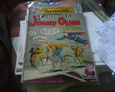 JIMMY OLSEN 15 SUPERMAN + FREE FOIL BALLOON DC COMIC 10 CENTS 1st SERIES