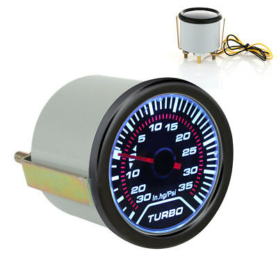 UNIVERSELL 52mm 2″ LED Auto Ladedruck Anzeige Turbo Boost Meter Druck Anzeige