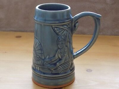 Chiang Mai BAAN CELADON Large Tankard Handcrafted in Thailand. Vintage. VGC.