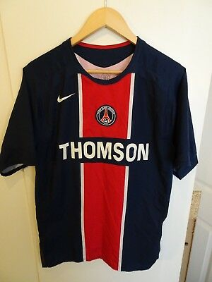 Mens PSG Paris Saint Germain Home Football Shirt 2005-06 - Size Medium