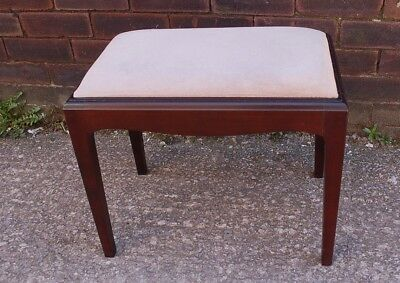 Superb Stag Minstrel Dressing Table Stool Mahogany Excellent Condition