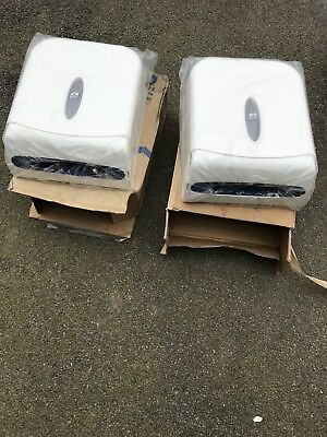 2 x New White Lotus Toilet Washroom Paper Hand Roll Towel Dispensers Z C I Fold
