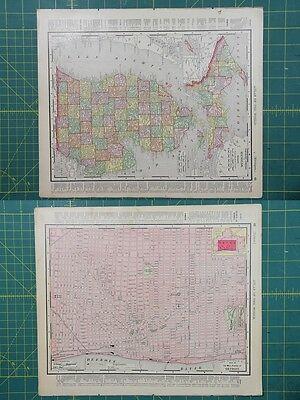 Map globe mixed lots maps atlases globes antiques page 18 michigan detroit vintage original 1895 rand mcnally world atlas map lot gumiabroncs Gallery