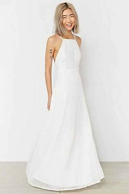 06d2f1e0f431 new Kimchi Blue Apron Neck Embroidered Maxi Dress- Ivory urban outfitters sz  M