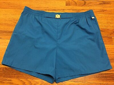 VTG 60's JANTZEN MENS BLUE BUCKLE SWIM SUIT SHORTS TRUNKS BEACH 44 L NEW UNWORN