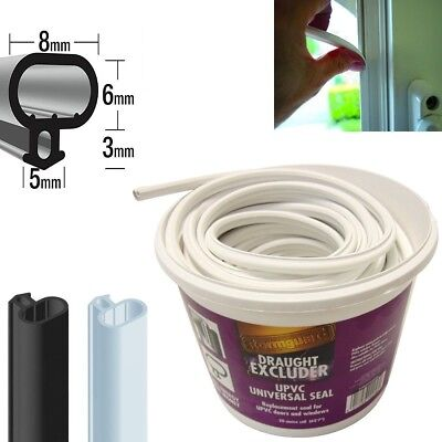 Stormguard PVC Replacement Window/Door Seal, Push Fit, Universal Bubble Profile