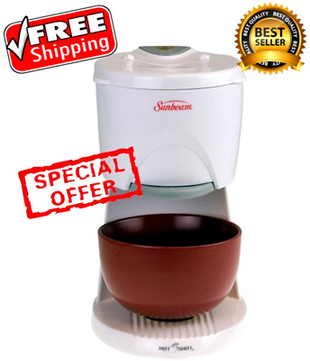 Hot Water Dispenser Heater Boiler Electric 16 Ounces Red Ceramic Catcher Bowl