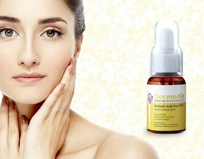 RETINOIC ACID YELLOW PEEL 25% for Wrinkle, Scar & Acne Pores Removal 30ml/50ml