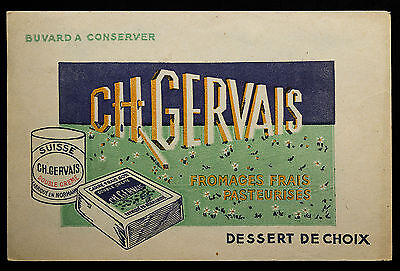 Buvard Publicitaire Ancien : Fromage Ch. Gervais