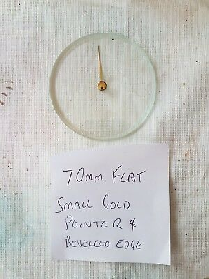 Barometer replacement glass - 70mm Flat with Pointer & Bevelled edge