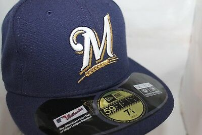 huge selection of aec4d ecd11 Milwaukee Brewers New Era Authentic Collection 59Fifty,Cap,Hat   37.99 NEW