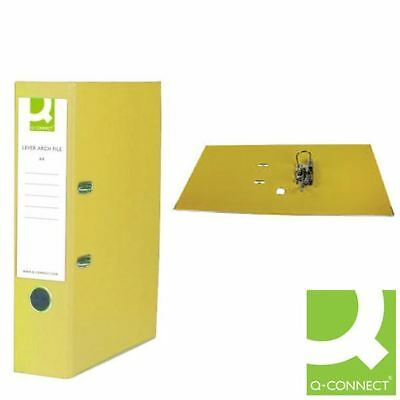 Q-Connect Yellow A4 Paperbacked Lever Arch File (Pack of 10) [KF01470]