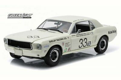 1967 Ford Shelby Mustang #33 Mccomb/titus 1/18 Scale Diecast Car By Greenlight
