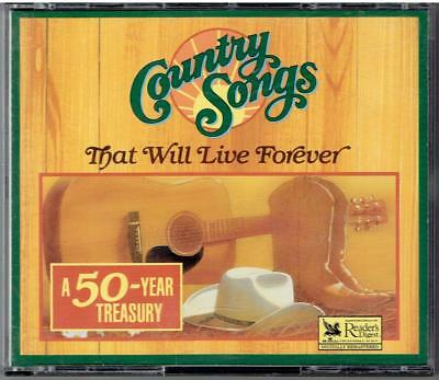 Readers Digest Country Songs THAT WILL LIVE FOREVER Various Artists 4 CD Set
