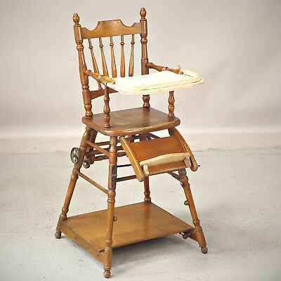 Child's Metamorphic High Chair - Antique (delivery £40)