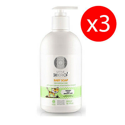 Pack 3 units SOAP CHILD CARE DAILY 500 ml NATURA SIBERICA KROUS