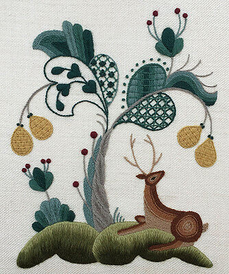 """Crewelwork Embroidery Kit """"THE ROYAL PARK"""" By Melbury Hill"""