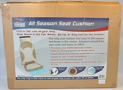 Tranquil Ease All Season Seat Cushion Therapeutic Heat for Car Office or Home
