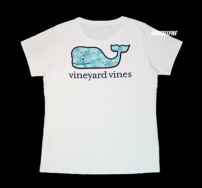 "NWT Vineyard Vines Women SS Graphic Pocket Crew Tee ""TURTLES & STARFISH WHALE"""
