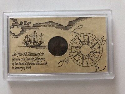1809 Admiral Gardner Shipwreck Coin Auction Deal Sale Bargain Buy East India