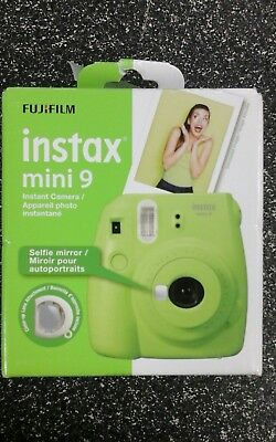 Fujifilm Instax Mini 9 Instant Camera Lime Green Brand New In Retail Package