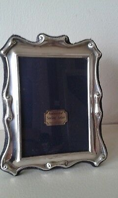 "Hallmarked sterling silver photograph frame, 4"" x 4.75"""