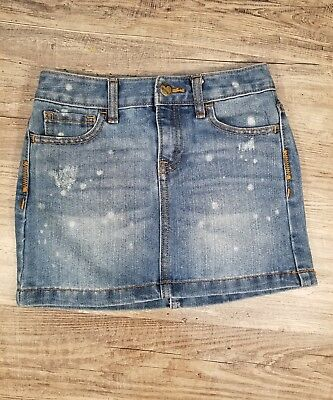 Old Navy Girls Jean Skirt Size M Denim Adjustable Inside Waist