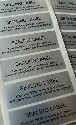 40x SECURITY SEALING LABELS 60mmx20mm, TAMPER EVIDENT,VOID ,WARRANTY STICKERS