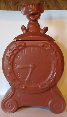 McCoy Mouse On A Clock Time For Cookies Cookie Jar 1968-1973 Pre-Owned