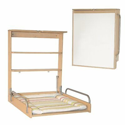 Roba foldable wall Diaper Changer with mattress haya wood Practico Baby Germany