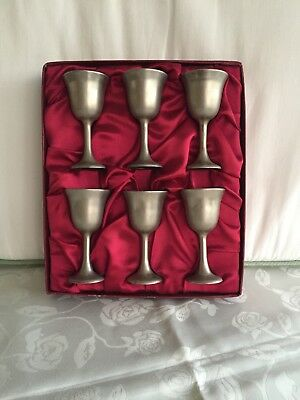 """Set of 6 F. B. Rogers 5 1/2"""" Tall Wine Glasses Goblets - Boxed"""