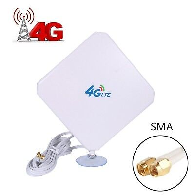 4G LTE Antenna Dual Mimo 35dBi High Gain Network Ethernet Outdoor Antenna Sig...