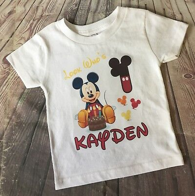 1 Personalized mickey Mouse Birthday t shirt Name Minnie Mouse