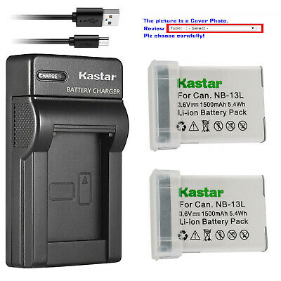 Kastar Battery Slim USB Charger for Canon NB-13L CB-2LH Canon PowerShot SX620 HS