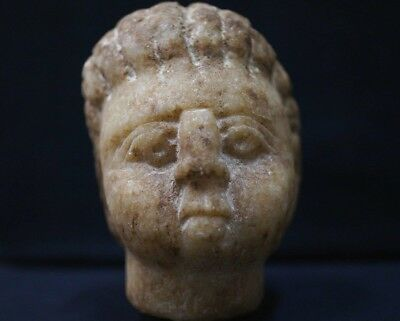Ancient Celtic Stone Head. Stunning Cult Statue Bust of Warrior, c 50-150 Bc.