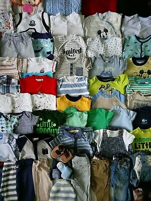 Massive Spring/Summer Baby Boys Clothes Bundle 3 - 6 Months/Over 60 Items