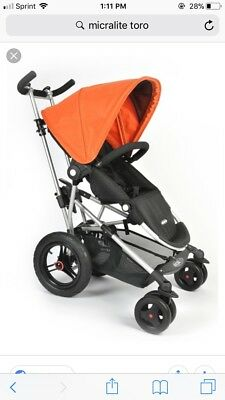 micralite toro stroller orange used