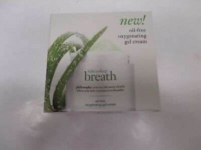 PHILOSOPHY TAKE A DEEP BREATH OIL-FREE OXYGENATING GEL CREAM 2oz AA 11662