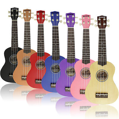 Beginner Soprano Ukulele Ukelele 21 Inch Musical Instrument & Free Bag UK Stock
