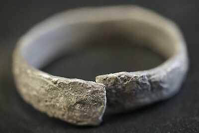Ancient Celtic Hammered Silver Openwork Ring, circa 150-50 Bc. Mint & Wearable