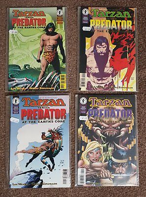 "Tarzan vs Predator ""At The Earth's Core"" #1-4 complete, NM, Dark Horse, RARE"