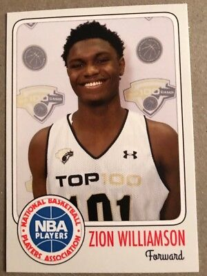 Zion Williamson Duke Blue Devils Rookie Card Hot Card 2016 High School Rc Top 3