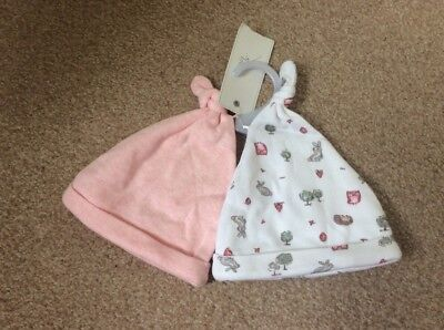F&F Baby Girl Hats Up To 1 Month BRAND NEW WITH TAGS