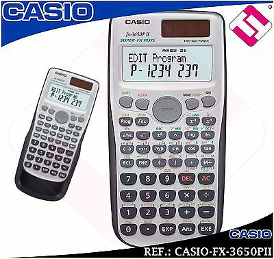 Calculatrice Casio Super Fx Plus 3650Pii Scientifique Technique Université