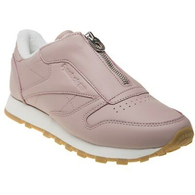 7bf46c65106e NEW WOMENS REEBOK PINK CLASSIC LEATHER ZIP Sneakers Retro -  44.95 ...