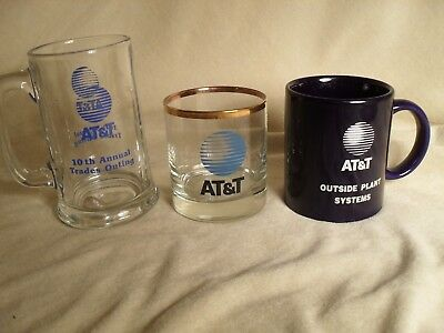 AT&T Old Glassware Samples From '80's & '90's- But New